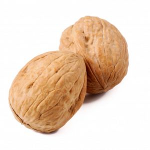 Whole walnuts in a shell