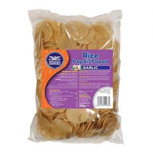 Heera Rice Papdi Garlic 200g