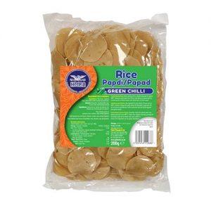 Heera Rice Papdi Green Chilli 200g