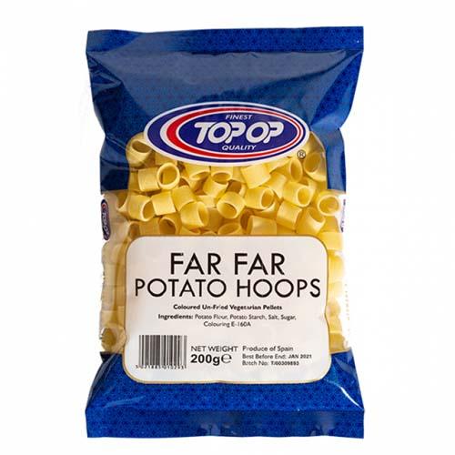 Top Op Far Far Potato Hoops 200g