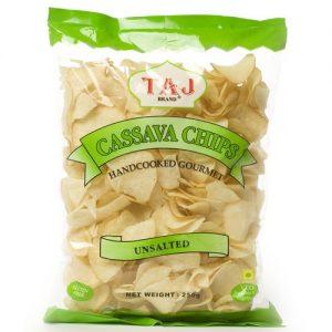 Taj Cassava Chips Unsalted