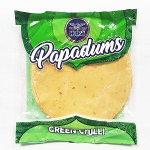 Heera Green Chilli Papadums